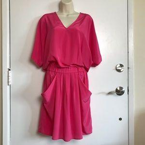 NWT Julie Dillon Pink Silk Dress